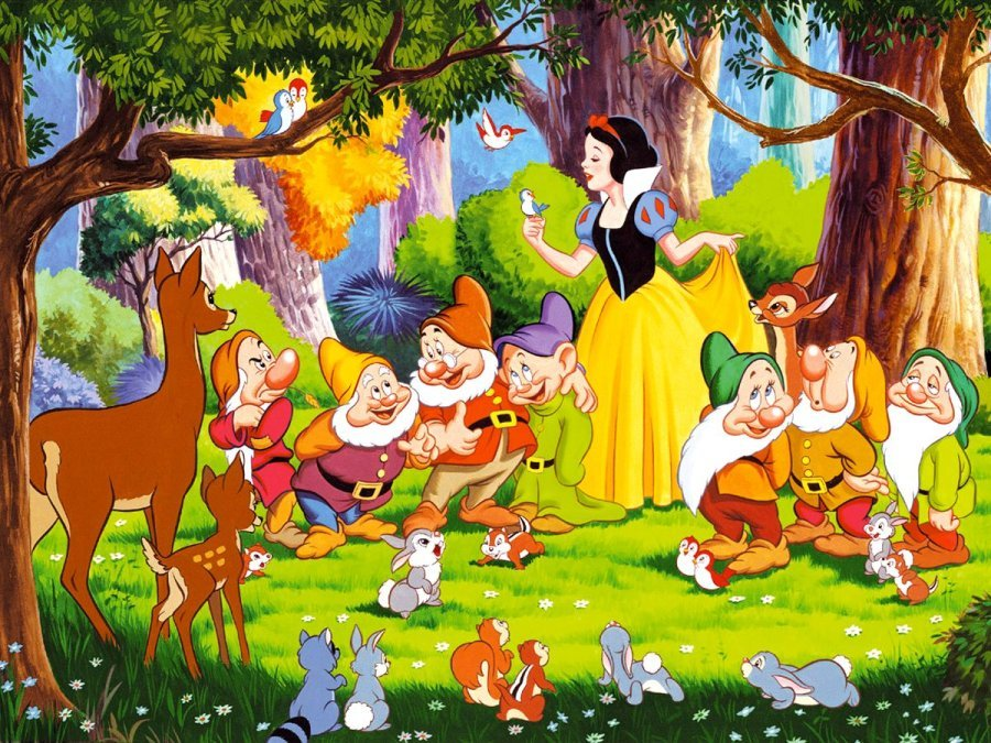 Icing Image Snow White and the Seven Dwarfs