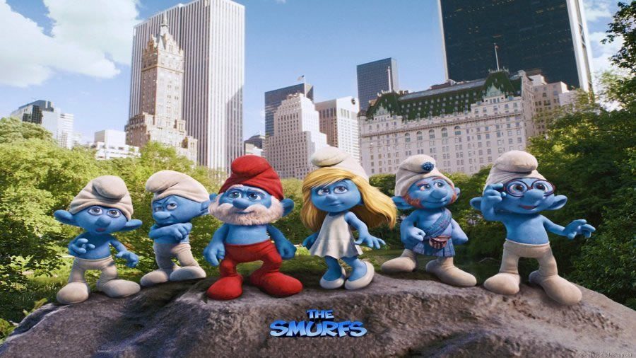 Icing Image The Smurfs